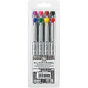 Zig 0.2-Millimeter Memory System Millennium Markers, Multicolor, 8-Pack