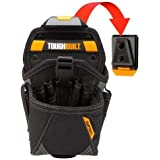 ToughBuilt - Drill Holster Specialist - Covered Accessory Pocket, 15 Pockets, 7 Drill Pockets & 2 Screw Driver Loops…
