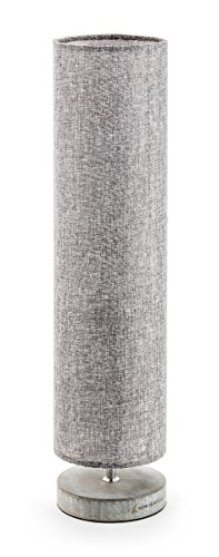 New Haven - Small Column Table Lamp - Charcoal