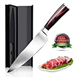 Chef Knife Yotece 8 inch Professional Kitchen Knife Japanese High Carbon Stainless Steel Knife with High Corrosion Resistance,Ergonomics Handle,Best Choice for Kitchen and Home