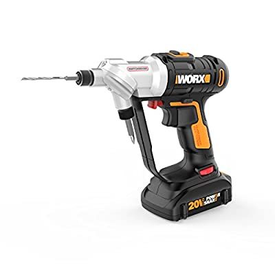 WORX WX176L 20V Switchdriver 2-in-1 Cordless Drill and Driver with Rotating Dual Chucks and 2-Speed Motor with Precise Electronic Torque Control