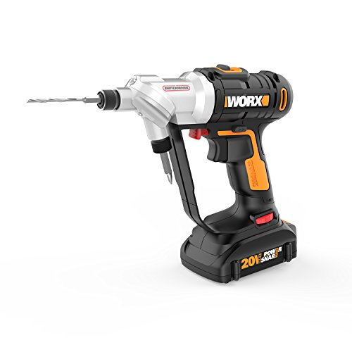 Dual Drill (WORX WX176L 20V Switchdriver 2-in-1 Cordless Drill and Driver with Rotating Dual Chucks and 2-Speed Motor with Precise Electronic Torque Control)