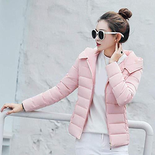 Mode Piumino Addensare Corto Lunga Di Piumini Slim Plus Pelliccia Rosa Eleganti Moda Prodotto Transizione Cappuccio Invernali Fit Manica Cappotto Donna Marca Sintetica Caldo Giacca 5A3qc4RLj
