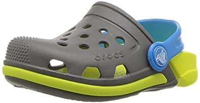 Crocs Infantil Clog Electro III, Cinza/Verde, Tamanho 24 BRA