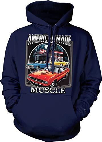 (Hoodteez American Made Muscle, Dodge Hooded Sweatshirt, XL Navy)