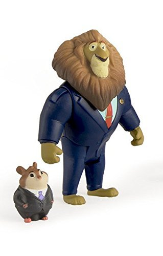 Zootopia Character Pack Mayor Lionheart And Lemming Businessman by TOMY