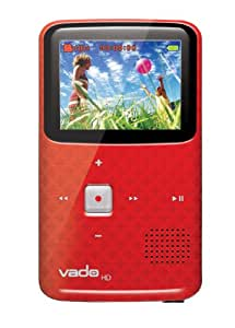 Creative Labs Vado VF0624-RD HD Pocket Video Camcorder 3rd Generation, 120 Minutes (Red) - NEWEST MODEL (Discontinued by Manufacturer)
