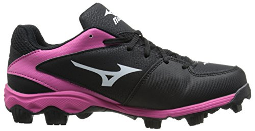 Molded 9 Spike Pink Mizuno Cleat Finch 6 Fast Pitch Women's Softball Black ADV E5E8q