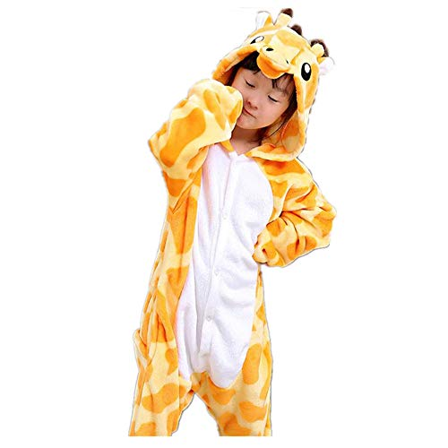 zgshnfgk Autumn and Winter boy and Girl Pajamas Cosplay Giraffe Jumpsuit Tracksuit(Yellow 85-for Height (90-108cm) -