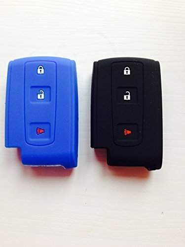 2pcs Silicone Fob Skin Key Cover Holder Key Jacket Protector Fob remote Keyless entry fit for 2004-2009 TOYOTA Prius Smart Fob Remote Key Case 3 BTN
