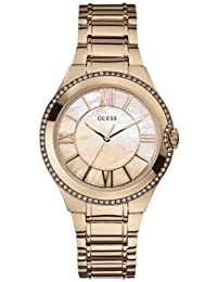 Guess Women's U15503L1 Rose-Gold Stainless-Steel Quartz Watch with Mother-Of-Pearl Dial