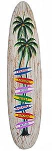 Surfboard Wegweiser 100cm Dekoration zum Aufhängen Surfbrett Hawaii Inseln
