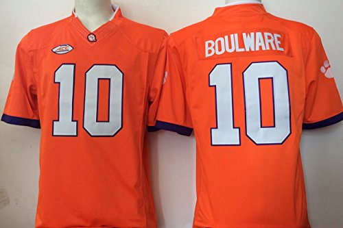 Men's Clemson Tigers Boulware #10 College Football Jersey Orange Large