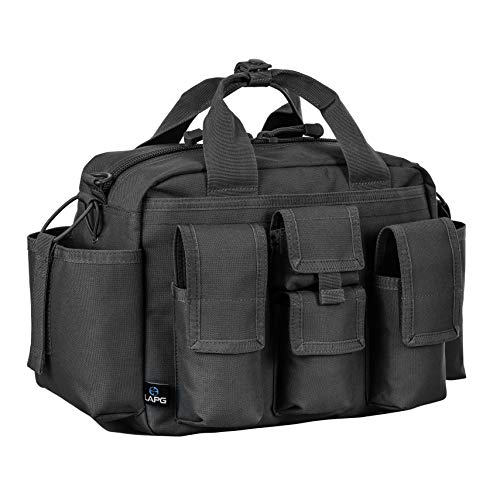 LA Police Gear Tactical Nylon Bail Out Gear Range Bag-Black