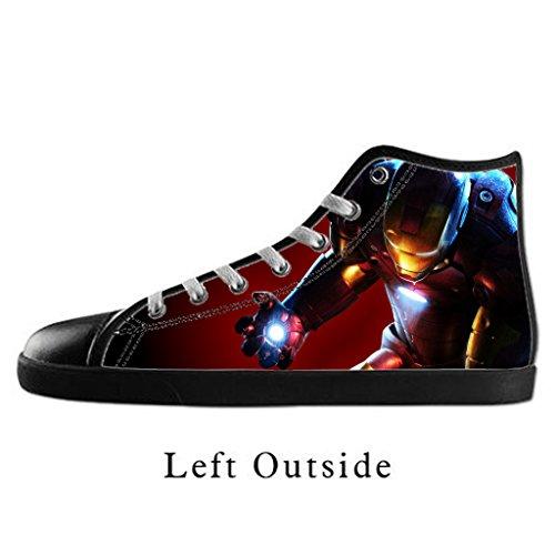 Custom Men Iron Man Canvas Shoes High Top Sneakers US12 - Iron Man Custom