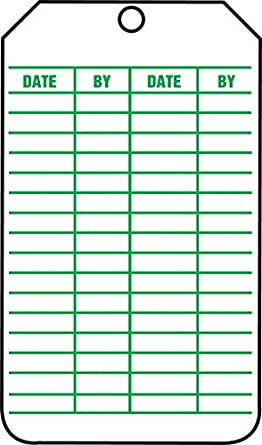LegendSAFETY Inspection 5.75 Length x 3.25 Width x 0.010 Thickness LegendSAFETY Inspection Pack of 5 5.75 Length x 3.25 Width x 0.010 Thickness Green on White Accuform TRS315CTM PF-Cardstock Inspection /& Status Record Tag