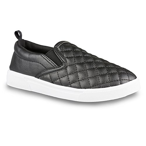 Chillipop Kids Fashion Sneakers – Slip On, Quilted, Faux Leather