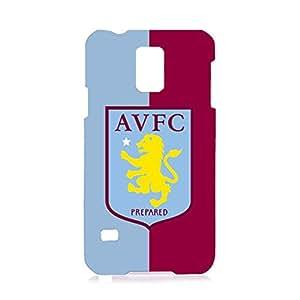 Aston Villa FC Red And Blue Printed FC Team Logo Customized Shockproof Slim Hard Plastic 3D Case LA6K106 For Samsung Galaxy S5