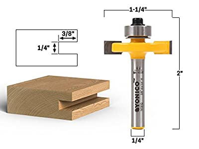 Yonico 14181q 1/4-Inch Height X 3/8-Inch Depth Slot Cutter Router Bit 1/4-Inch Shank