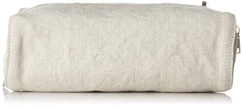 Strenesse Bag Kara Linen - Pochette da giorno Donna, Bianco Sporco (Offwhite), 7x20x25 cm (B x H x T)