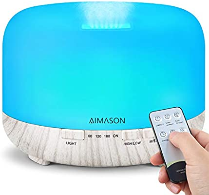 Essential Oil Diffuser, AIMASON 500ML Upgraded BPA Free