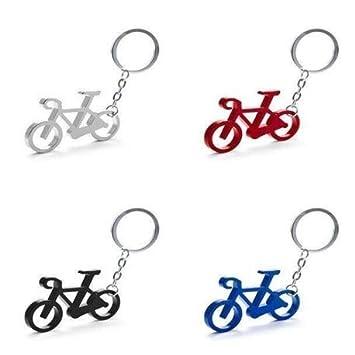 Regalos para ciclistas originales y muy baratos DISOK Llaveros de Aluminio de colores en Forma de Bicicleta Llaveros para Carreras ciclistas Vueltas Ciclistas Lote de 50 Llaveros Aluminio BICICLETA