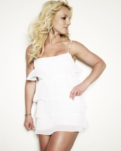 ba5c5955ae8 Amazon.com: BRITNEY SPEARS Sexy White Dress 022 8x10 PHOTO: Photographs