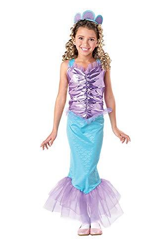 Seasons Direct Halloween Girls Mermaid Costume (US 8-10)