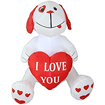 d62cea0833567 4 Foot Inflatable Puppy Dog, Great for Anniversary, Wedding and Valentine's  Day Party Decoration