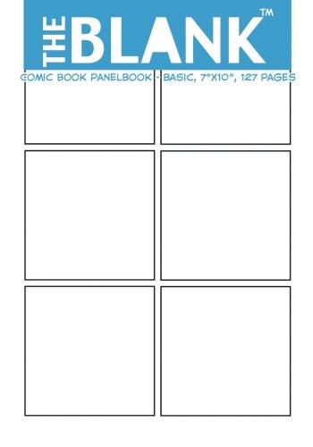 "The Blank Comic Book Panelbook - Basic, 7""x10"", 127 Pages [About Comics] (Tapa Blanda)"
