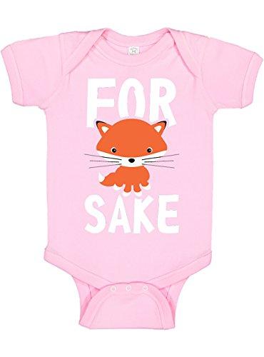 Panoware Funny Baby Bodysuit | for Fox Sake, Pink, 3-6 Months