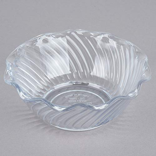 TableTop King 453407 Clear Polycarbonate 13 oz. Tulip Berry Dish - 24/Case
