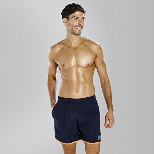 Pantalón Speedo Para Hombres Corto Oscuro Azul Acuáticos Y Block Deportes Naranja qtr5t