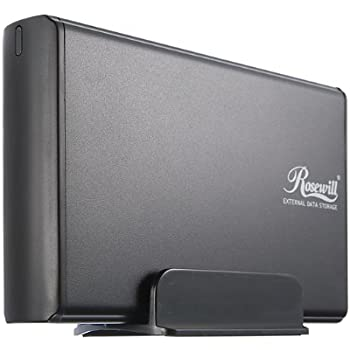 Rosewill Aluminum 3.5-Inch USB 2.0 External Enclosure- Black (RX35-AT-SU BLK)