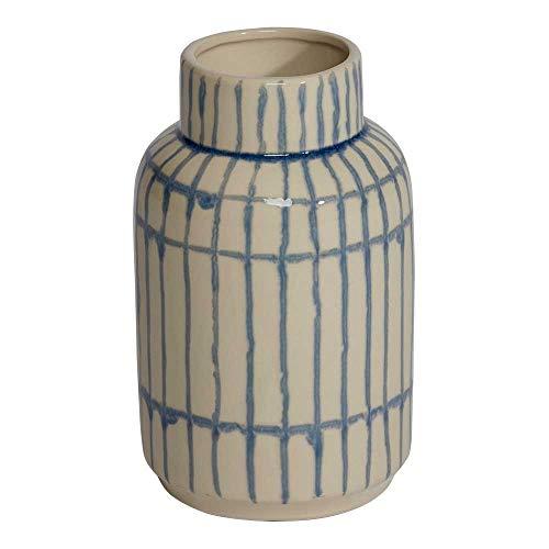 Ethan Allen Jiro Modern Striped Vase | Ceramic Striped Vase, Small