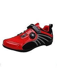 shoes Hombres y Mujeres Montando Zapatos, Calzado Deportivo de Bicicleta de Carretera de Ocio Antideslizante Transpirable de montaña, Adecuado para Ejercicio en Interiores/equitación al Aire Libre