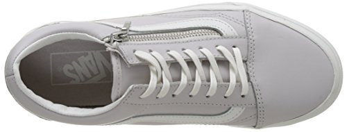 Ua Low Blanc Women's Vans Old Zip Wind Sneakers Skool Grey De Top Leather Chime Blanc wq5x1Rf