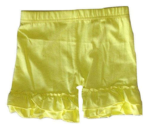 (LC Boutique Girls Double Ruffle Bike Shorts Mid Thigh Sizes 2 to 16)