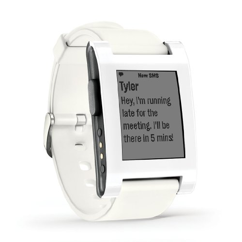 855906004108 - Pebble Smartwatch White carousel main 1