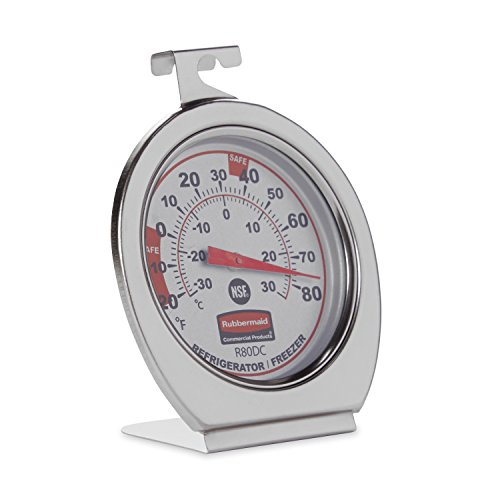 Rubbermaid Commercial Refrigerator Thermometer FGR80DC product image
