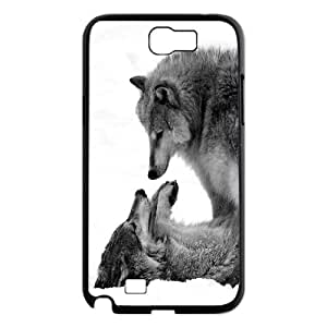 Fggcc wolf Cell Phone Case for Samsung Galaxy Note 2 N7100,wolf Note2 Back Case (pattern 8)