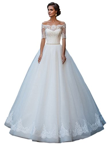Ikerenwedding - Vestido - para mujer Marfil