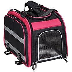 Nantucket Bike Basket Co. Expandable Rear Pet Carrier Basket, Pink/Black