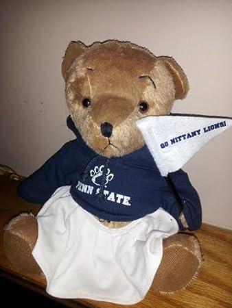 Amazon Com Mom To Be Penn State Fan Teddy Bear Plush Toys Games