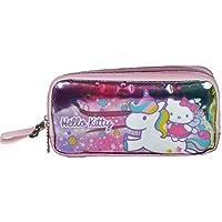 Hello Kitty İki Bölmeli Simli Pembe Kalem Çanta - 96831