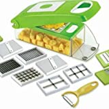 DFS Stainless Steel Unbreakable 12 in 1 Vegetable and Fruit Cutter, Dicer, Grater and Slicer for Vegetables, Fruits, Chips and Salad