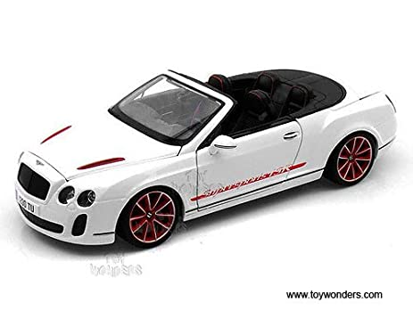 11035w Bburago Diamond   Bentley Continental Supersports Convertible Isr  (1:18, White)