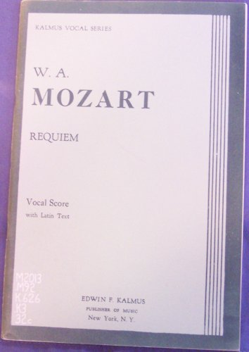 Requiem (Vocal Score with Latin Text) - Mozart Requiem Sheet