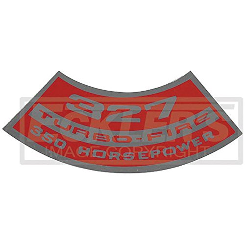 Eckler's Premier Quality Products 55-191886 El Camino Air Cleaner Decal, Small Block, 327 Turbo-Fire, 350 HP, (El Camino Decals)