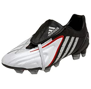 adidas Men's Predator PS Firm Ground Power Soccer Cleat,White/Silver/Black,6.5 M